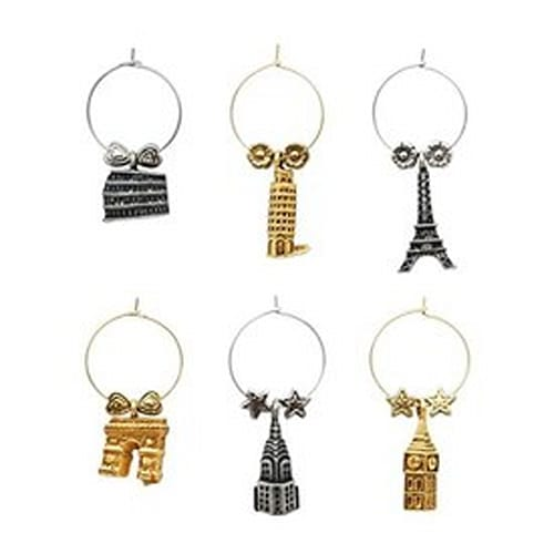 Around The World Wine Charms