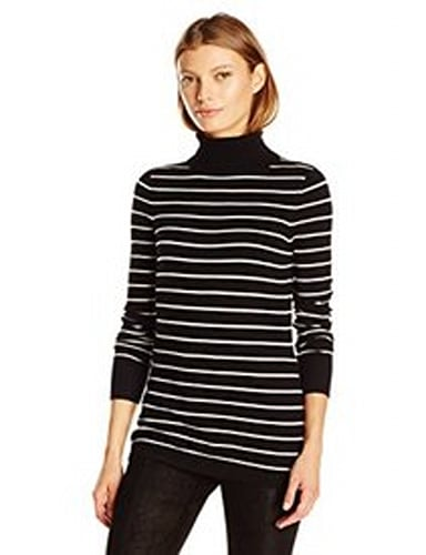French Connection Women's Bambi Stripe Turtleneck