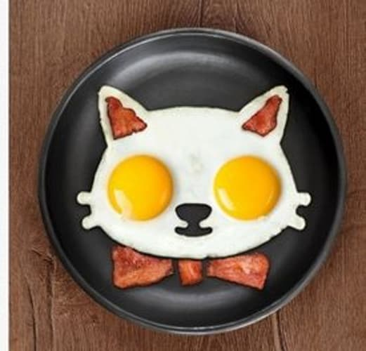 Cat shaper Fired Egg Silicone Mold