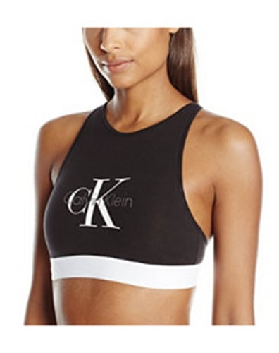 Calvin Klein Logo Cotton Unlined Bralette