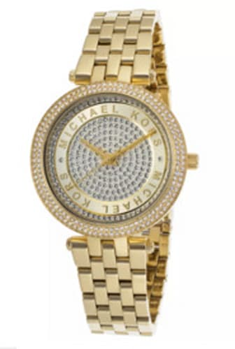 Michael Kors Darci Gold-Tone Stainless Steel Crystal Pave