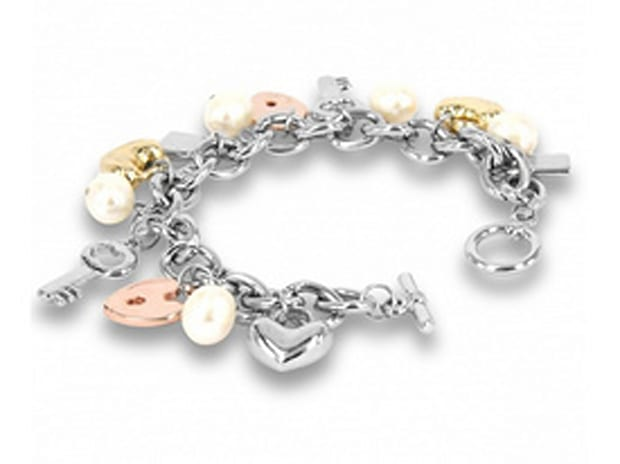 Rose Atoll Collection Baroque Pearl Charm Bracelet