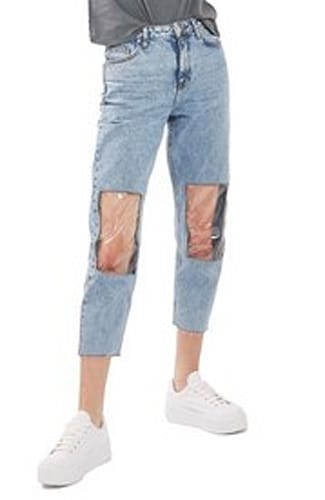 Topshop Clear Mom Jeans