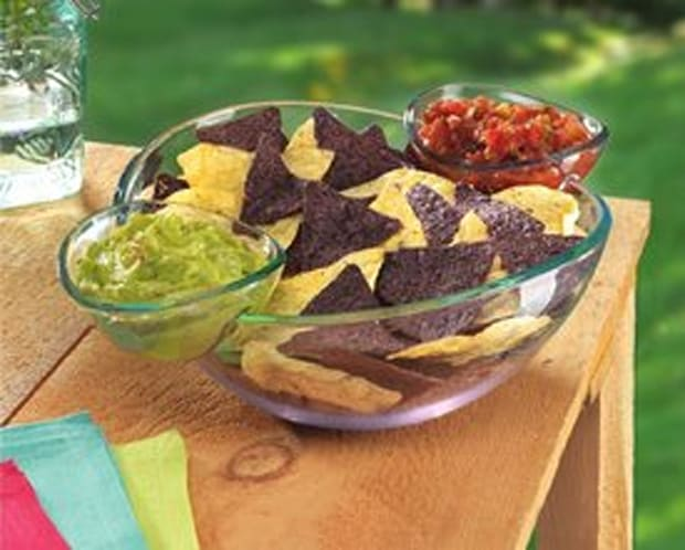 Estilo Chips and Dips Snack Bowl Set