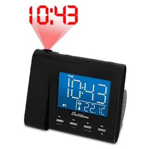 Projection Alarm Clock with Radio, Temperature and Date Display