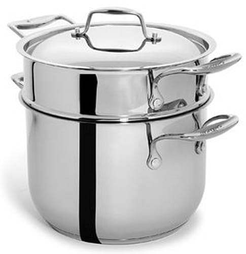 Culina 6 Quart Pot Cookware with Pasta Insert and Lid