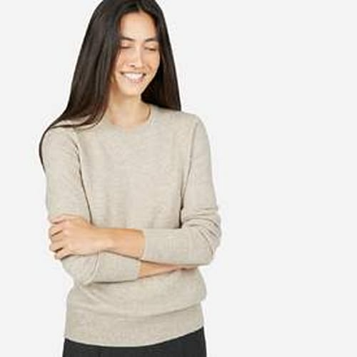 Everlane 'The Cashmere Crew' in Oatmeal