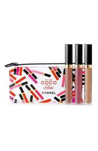 CHANEL Rouge Nude Mood Coco Gloss Moisturizing Glossimer Trio