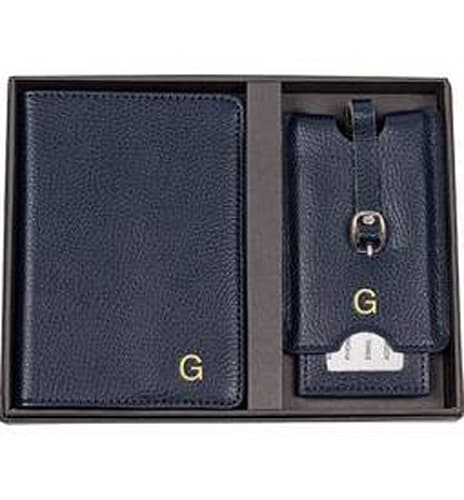 CATHY'S CONCEPTS Monogram Passport Case & Luggage Tag
