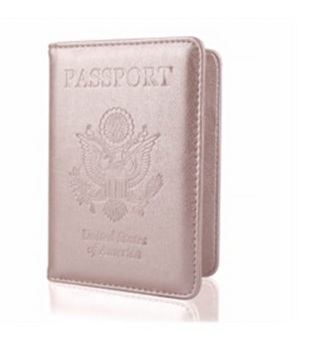 Rose Gold Passport Cover Travel Wallet