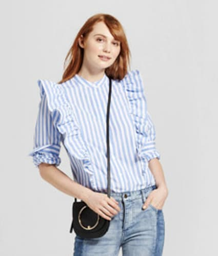 Who What Wear x Target - Blue Stripe
