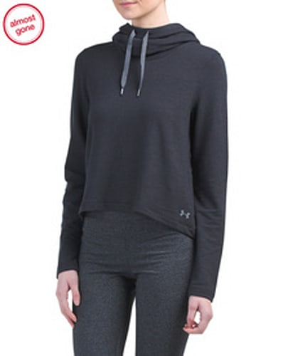 UNDER ARMOUR Plush Terry Cropped Hoodie
