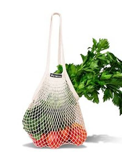 NetNeed Cotton Reusable Net Shopping Tote