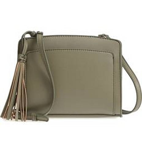 Sole Society Smooth Faux Leather Crossbody