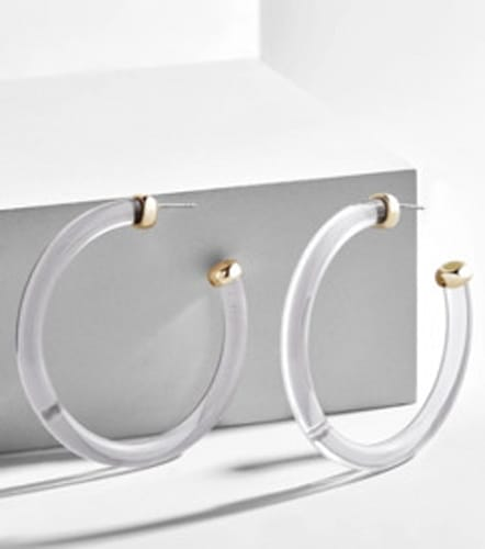 BaubleBar Leia Lucite Hoop Earrings