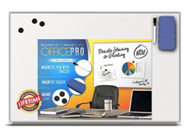 OfficePro Ultra-Slim, Lightweight Magnetic Dry Erase Board & Accessories
