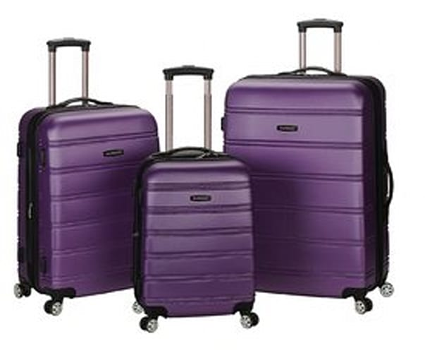 Rockland Luggage Melbourne 3 Piece Abs Luggage Set