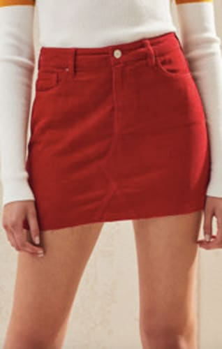 PacSun Fire Red Vintage Corduroy Skirt