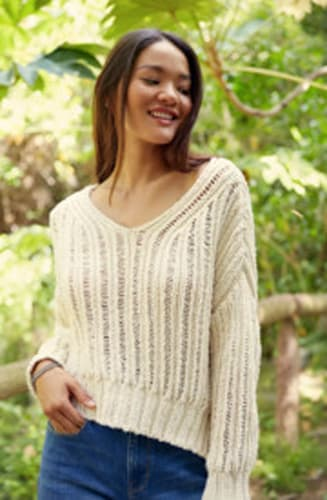 Me To We Ladder Stitch Pullover Sweater
