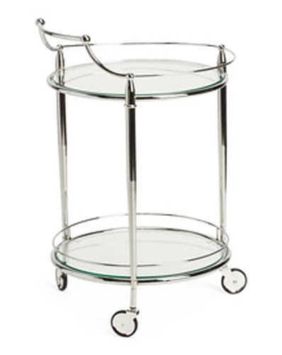 JAY IMPORT Rolling Bar Cart