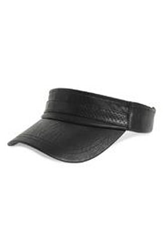 Sweat Active Faux Leather Tennis Visor
