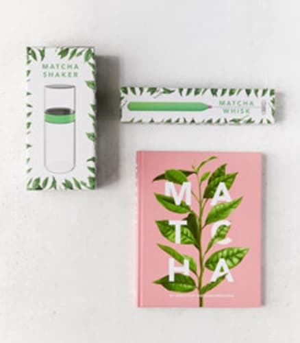 Matcha Book, Whisk + Shaker Gift Set
