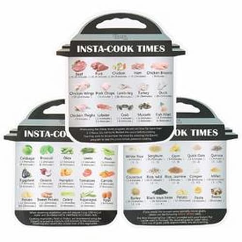 Magnetic Instant Pot Cooking Cheat Sheets