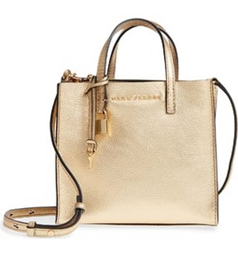 Marc Jacobs Mini The Grind Metallic Leather Tote