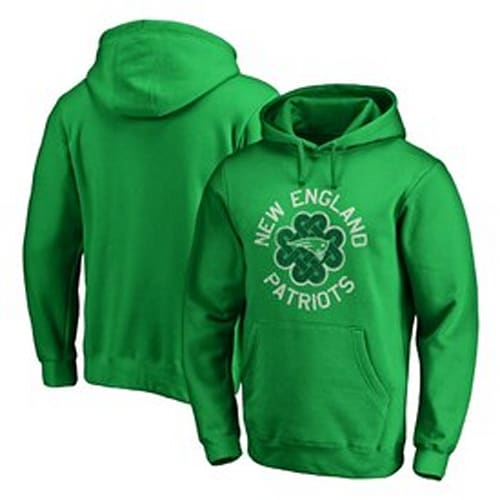 caa30d85202 Men's New England Patriots NFL Pro Line by Fanatics Branded Kelly Green St. Patrick's  Day Luck Tradition Pullover Hoodie