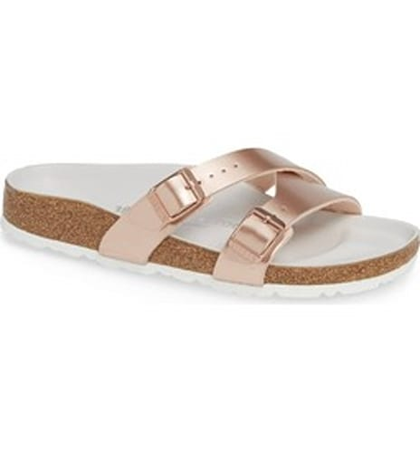 Yao Metallic Slide Sandal