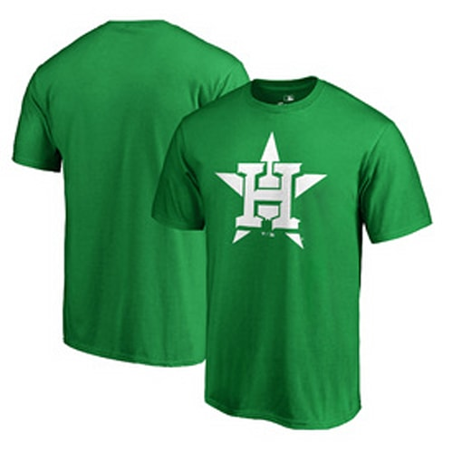 07d41e33 Houston Astros Fanatics Branded St. Patrick's Day White Logo Big & Tall T- Shirt - Green