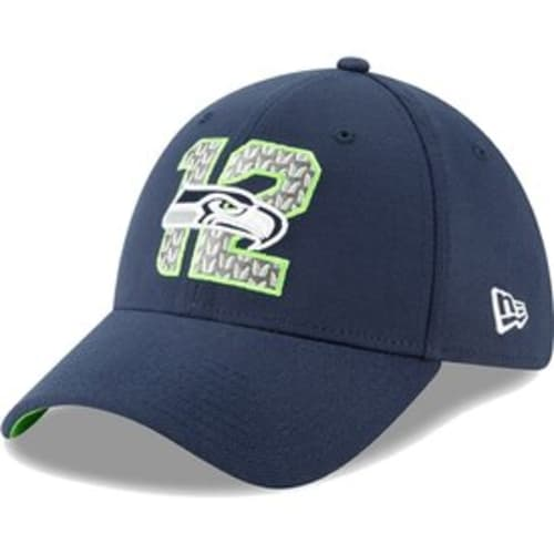 39d5cde036076 Seattle Seahawks New Era 2019 NFL Draft On-Stage Official 39THIRTY Flex Hat  – Navy