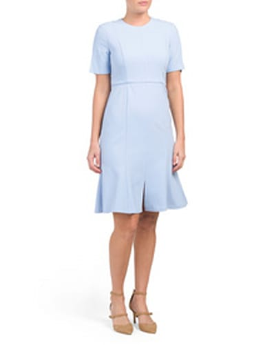 Donna Morgan Split Sleeve Crepe Dress, $39.99