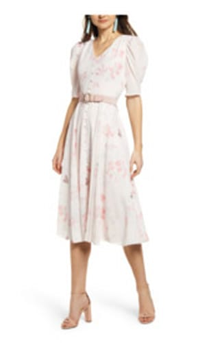 Pink midi dresses from Nordstrom