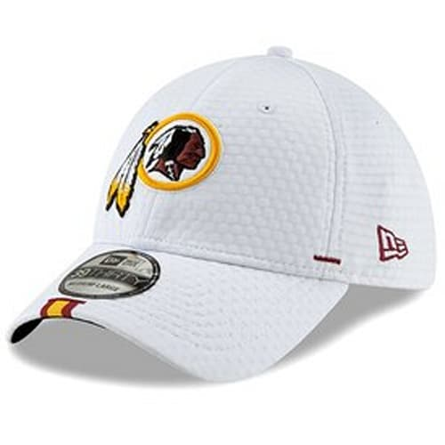1fdccb9be Men's Washington Redskins New Era White 2019 NFL Training Camp Official  39THIRTY Flex Hat