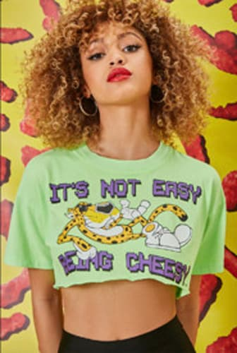 Cheetos Graphic Cropped Tee