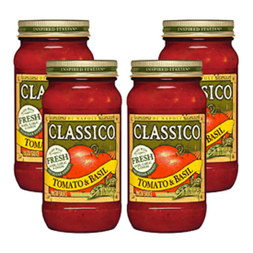 Classico Tomato and Basil Pasta Sauce, 4 pack