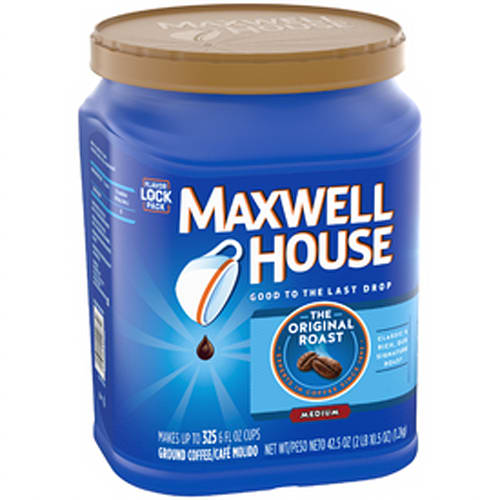 Maxwell House Original Roast Ground Coffee, 42.5 oz can, 2 count