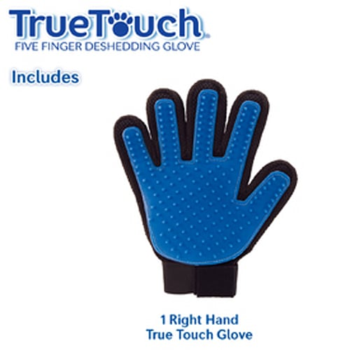 True Touch 5 Finger Deshedding Glove, for Easy Pet Grooming