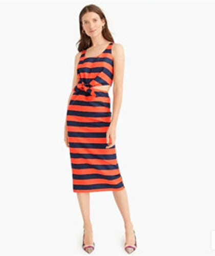 J.Crew Collection Striped Cut-Out Dress