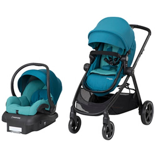 Maxi-Cosi Zelia 5 Mode Travel System Stroller, Emerald Tide
