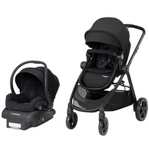 Maxi-Cosi Zelia 5 Mode Travel System Stroller, Night Black