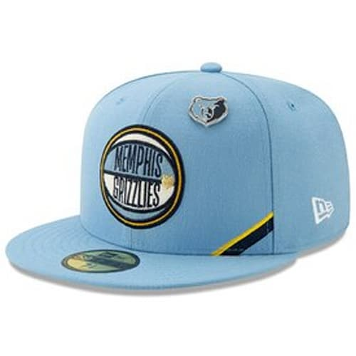 6c1b4a19bd21de Memphis Grizzlies New Era 2019 NBA Draft 59FIFTY Fitted Hat - Light Blue