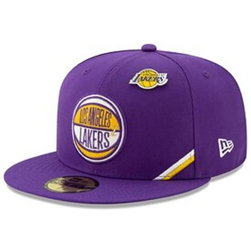 purchase cheap 3d0b9 a30c6 Los Angeles Lakers New Era 2019 NBA Draft 59FIFTY Fitted Hat - Purple