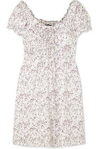 J.CREW Shirred floral-print voile mini dress$80