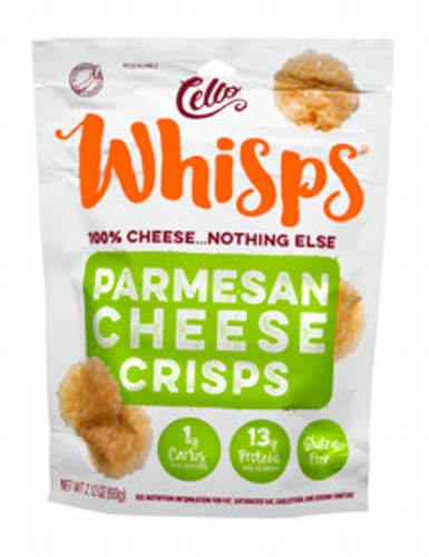 Cello Whisps Cheese Crisps, Parmesan Crisps, 2.12oz
