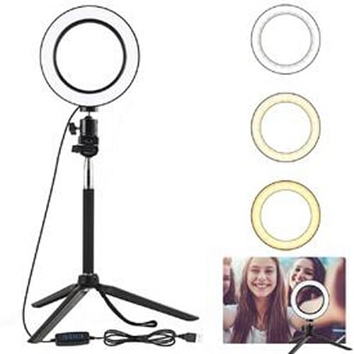 Oenbopo LED Selfie Ring Light with Tripod Stand