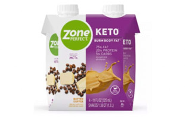 ZonePerfect Keto Nutrition Shake - Butter Coffee