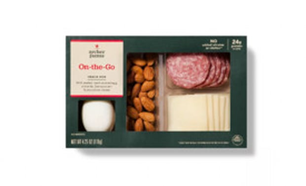 Archer Farms On-The-Go Snack Box With Boiled Eggs, Almonds, Genoa Salami & Provolone Cheese