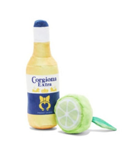 BARK Corgiona Beer With Lime Dog Toy